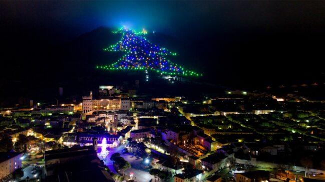 Gubbio albero di Natale